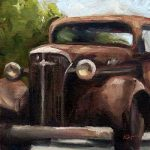 Old Chev - small daily oil painting
