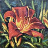 Day Lily - small daily oil painting
