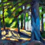 Interior forest oil daily painting