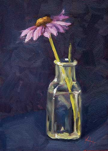 Cone Flower in bottle - Day 1 of 30