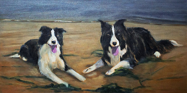 Update 2 – Border Collies on the Beach Oil Commission WIP