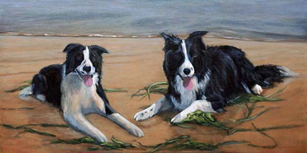 Update 3 – Border Collies on the Beach Oil Commission WIP 5