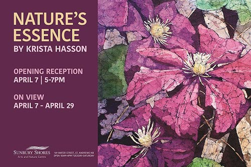 Natures Essence solo art show Krista Hasson